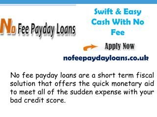 Instant Cash Solutions With No Fee Loans Scheme