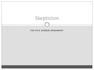 Skepticism