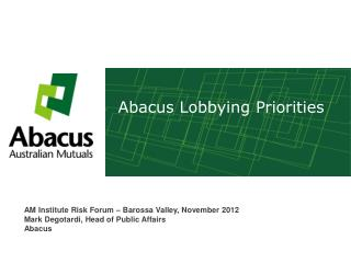 Abacus Lobbying Priorities