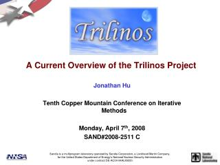 A Current Overview of the Trilinos Project