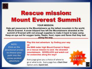 Rescue mission: Mount Everest Summit