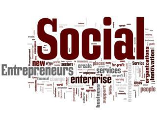 Defining social enterprises