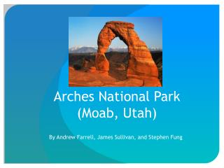 Arches National Park (Moab, Utah)