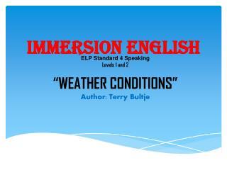 Immersion English