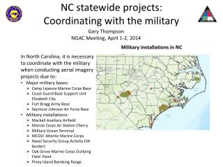 NC statewide projects:  Coordinating with the military