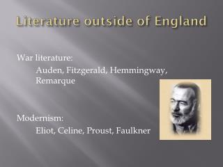 Literature outside of England