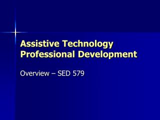 Assistive Technology Professional Development
