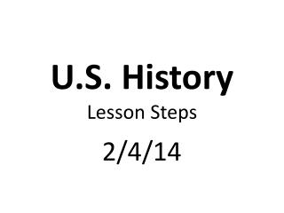 U.S. History Lesson Steps