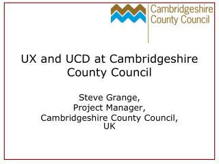 UX and UCD at Cambridgeshire County Council
