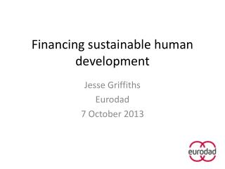 Financing sustainable human development