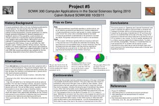 Project #5 SOWK 300 Computer Applications in the Social Sciences Spring 2010