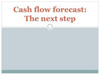 Cash flow forecast: The next step