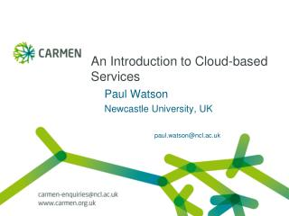 An Introduction to Cloud-based Services