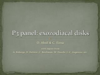 P3 panel: exozodiacal  disks