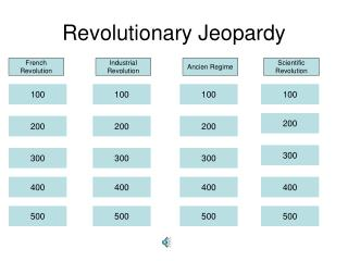 Revolutionary Jeopardy