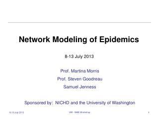 Network Modeling of  Epidemics