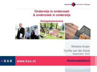 Onderwijs  in  onderzoek &  onderzoek  in  onderwijs Etalagebijeenkomst