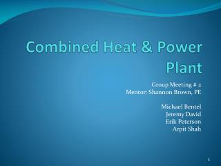 Combined Heat & Power Plant
