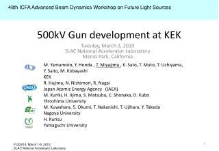 500kV Gun development at KEK