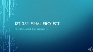 IST 331 Final project