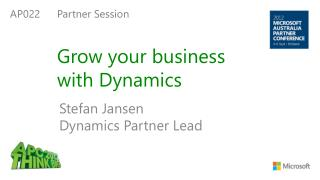 Grow your business  with Dynamics