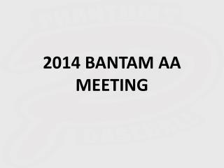 2014 BANTAM AA MEETING