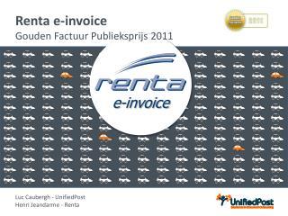 Renta e-invoice Gouden Factuur Publieksprijs  2011
