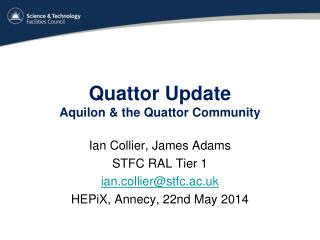 Quattor Update Aquilon  & the  Quattor  Community