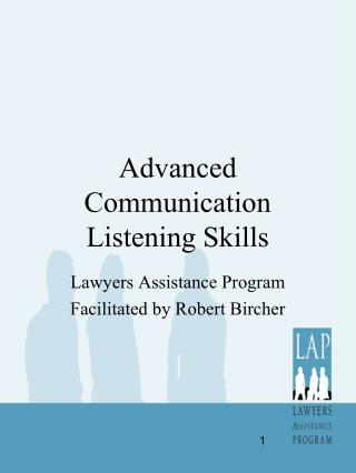 Advanced Communication Listening Skills