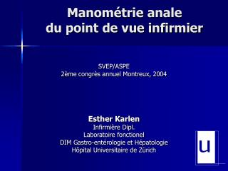 Manom trie anale  du point de vue infirmier