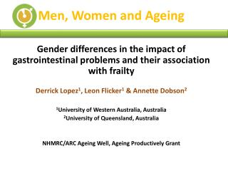 Men, Women and Ageing