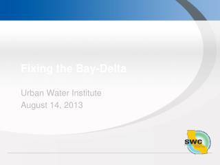 Fixing the Bay-Delta