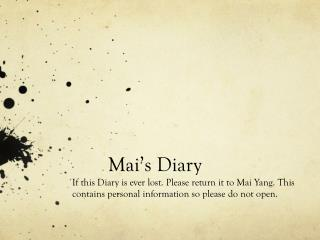 Mai's Diary