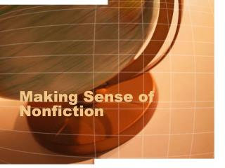 Making Sense of Nonfiction