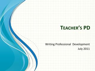 Teacher�s PD