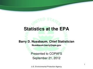 Statistics at the EPA