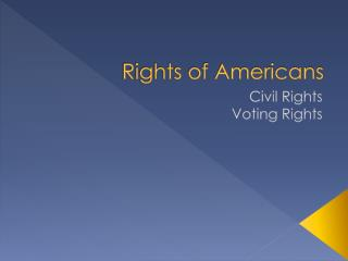 Rights of Americans
