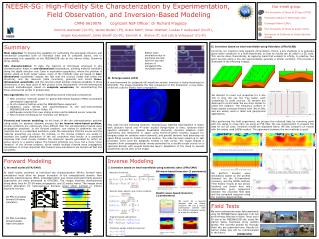 NEESR-SG: High-Fidelity Site Characterization by Experimentation,