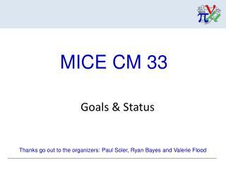 Goals & Status