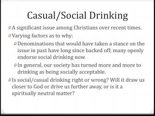 Casual/Social Drinking
