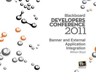 Banner and External Application Integration