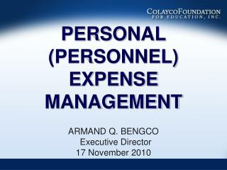 PERSONAL PERSONNEL EXPENSE MANAGEMENT