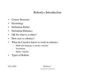 So is robotics a new field