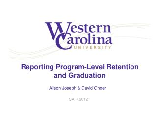 Reporting Program-Level Retention and Graduation