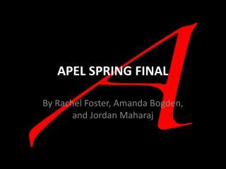 APEL SPRING FINAL