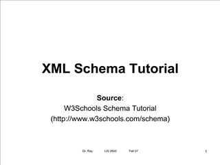 XML Schema Tutorial