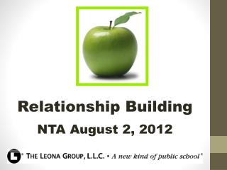 Relationship Building NTA August 2, 2012
