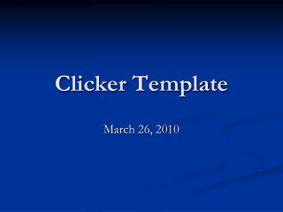 Clicker Template