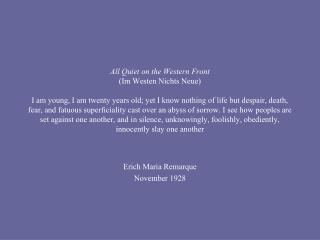 Erich Maria Remarque November 1928