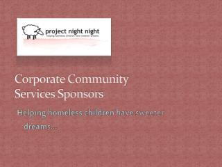 Corporate Community  Services Sponsors
